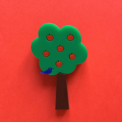 APPLE TREE Acrylic Brooch