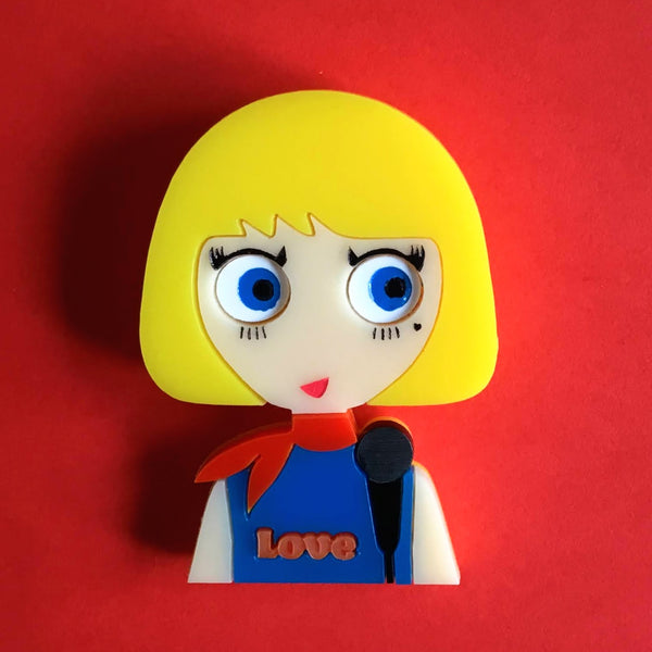 CLAUDIA the Pop Singer, Limited Edition Acrylic brooch