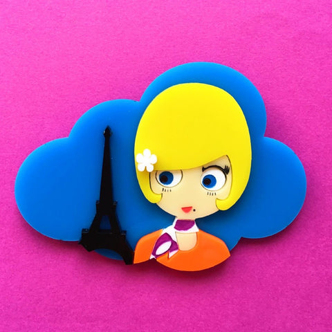 PRETTY PARIS Acrylic Brooch, Limited & Numbered Edition
