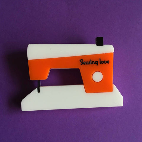 SEWING MACHINE Acrylic brooch