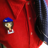 MARTINE Acrylic Brooch, a brunette from Brittany! - Isa Duval