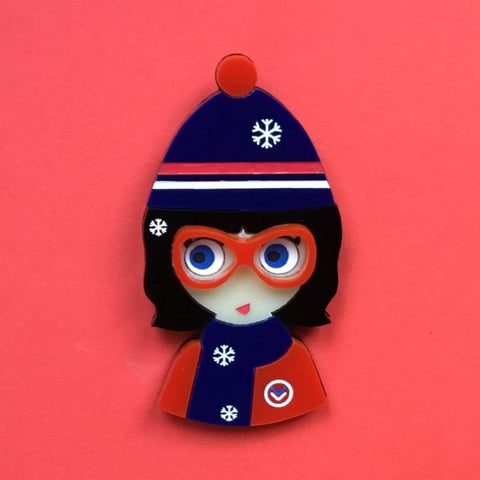 MADDY Acrylic Brooch, Xmas Limited Edition