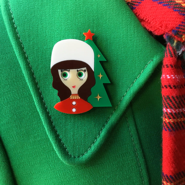 IRINA Acrylic Brooch, Little Russian Princess Xmas limited edition