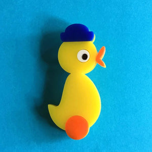 DUCKY THE DUCK Acrylic Brooch 🐥 - Isa Duval
