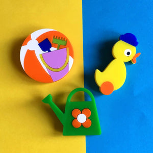 TOYS Acrylic Brooches - Set of 3 🎈🎈🎈