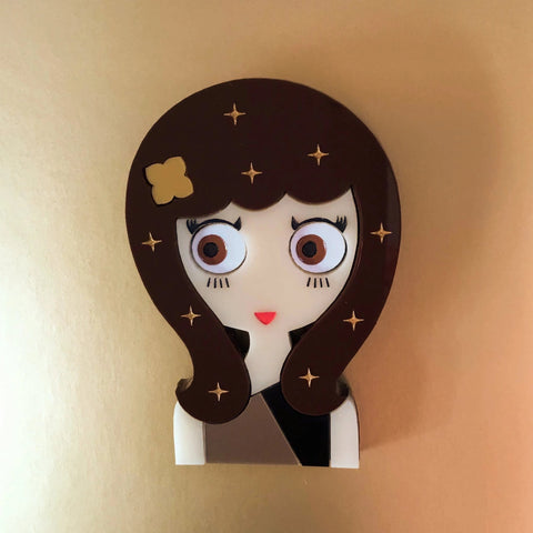 Wanda Acrylic Brooch, Christmas Eve Limited Edition