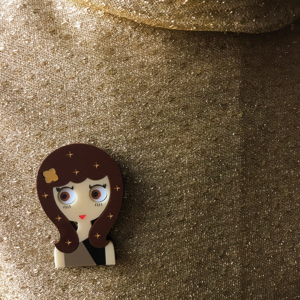 Wanda Acrylic Brooch, Christmas Eve Limited Edition - Isa Duval