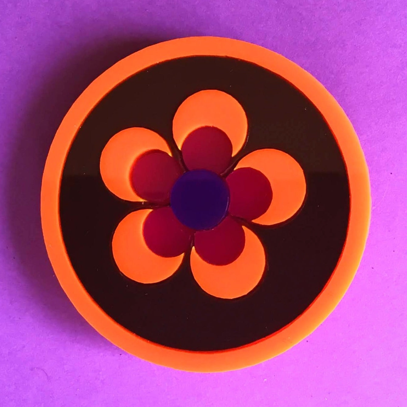 POP FLOWER Acrylic Brooch