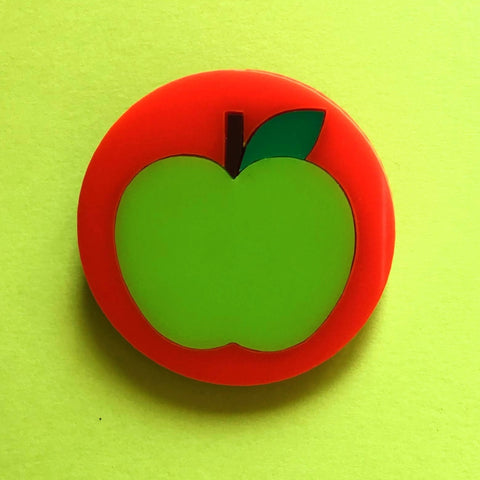 GREEN APPLE Acrylic Brooch