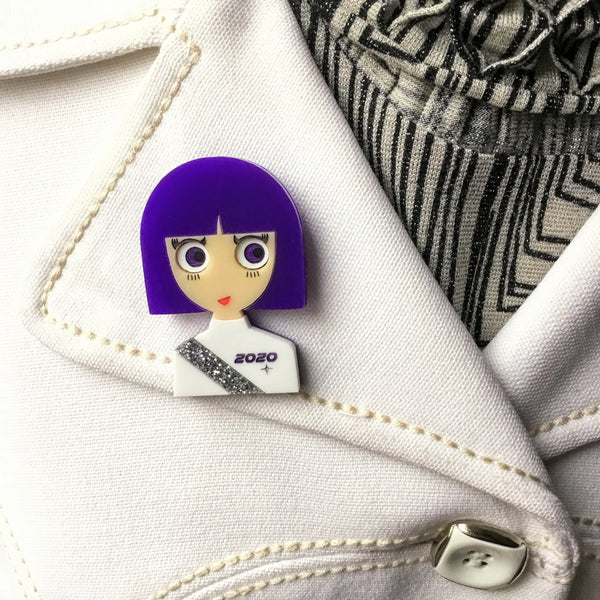 EILEEN Space Acrylic Brooch, Limited & Numbered Edition - Isa Duval