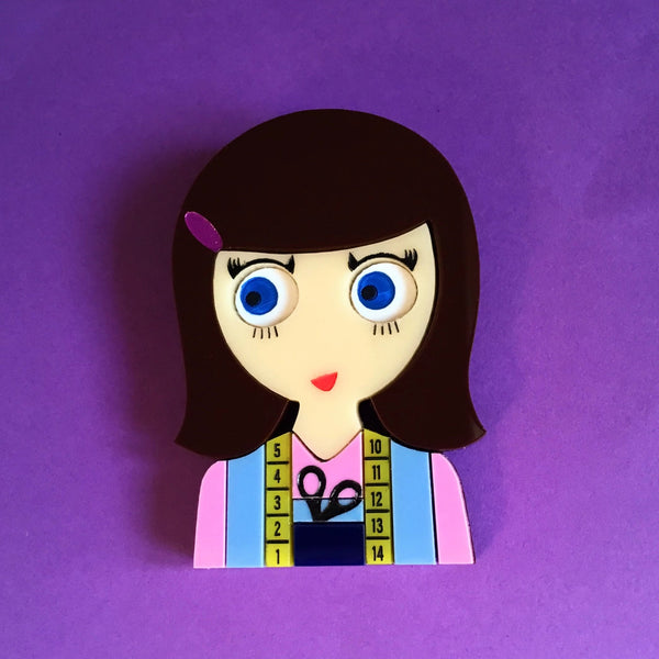 CAROLINE The Seamstress Acrylic brooch - Isa Duval