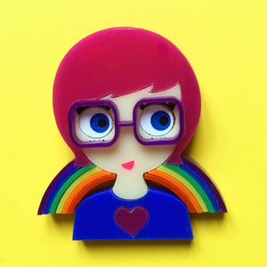 ALEX acrylic brooch, Let's Celebrate LOVE! - Isa Duval