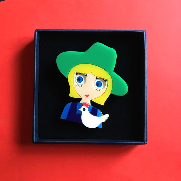 EDDIE Acrylic Brooch, Spring Day Limited Edition - Isa Duval