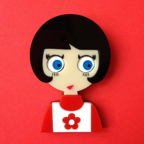 LUCY Acrylic Brooch, Exclusive Numbered Edition x20 !