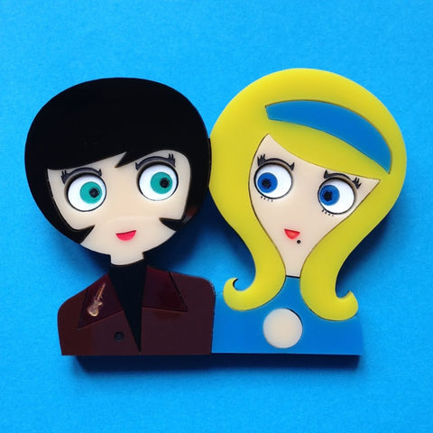 MIKE & JANE Acrylic brooch - Isa Duval