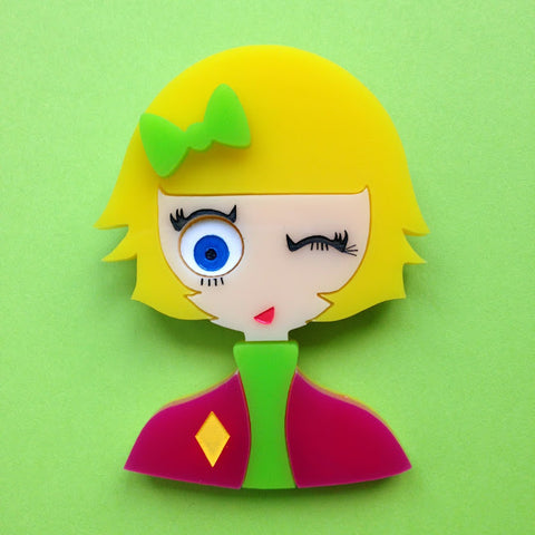 """TARA"" acrylic brooch - Limited and numbered 1/10 to 10/10 edition. One only per customer."