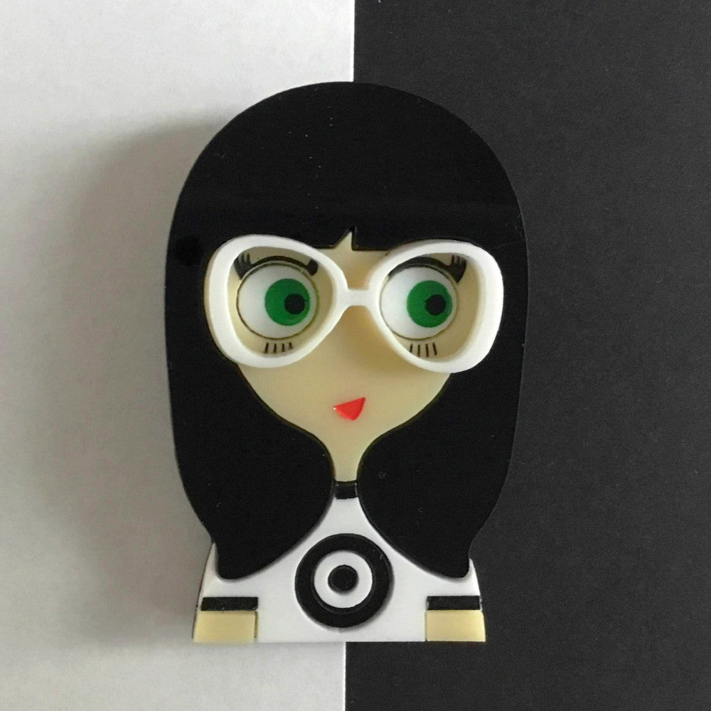 EMMA Acrylic Brooch, Limited Numbered Edition - Isa Duval