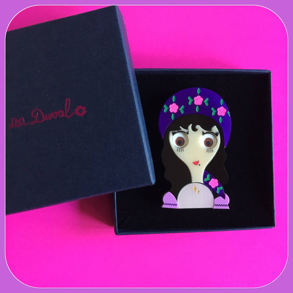SYBIL The Fortune Teller Acrylic Brooch