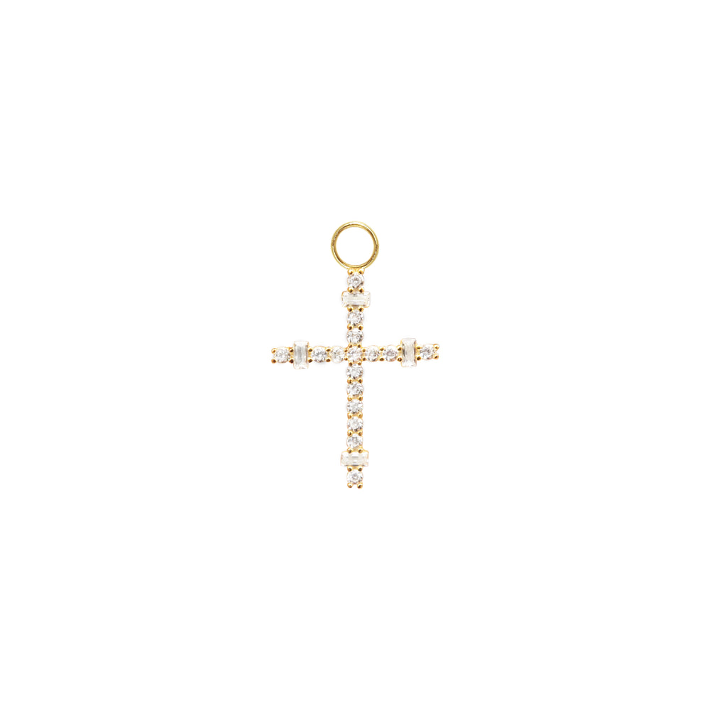 Load image into Gallery viewer, Baguette Cross Charm