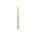 Diamond Bar Charm Gold