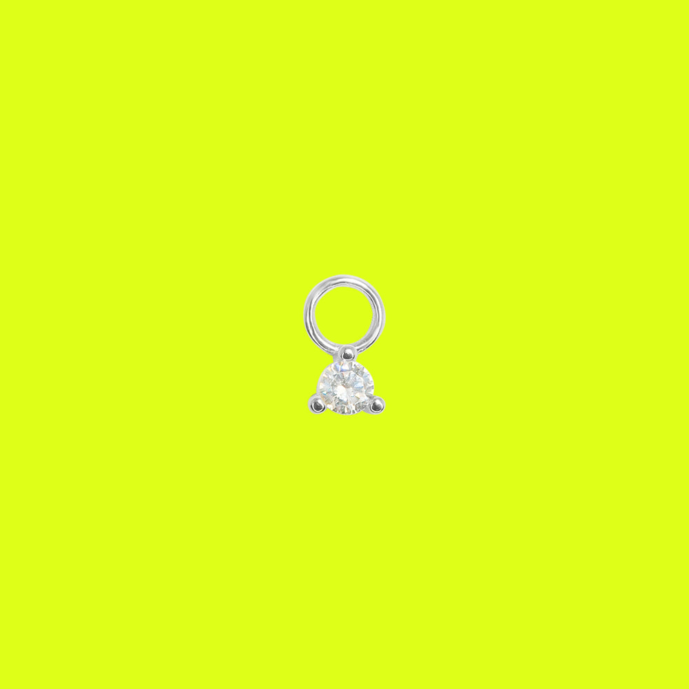 Load image into Gallery viewer, Diamond Charm Silver