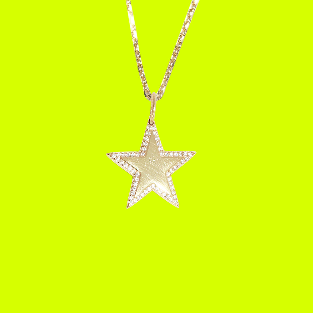 Load image into Gallery viewer, Diamond Star Necklace Gold