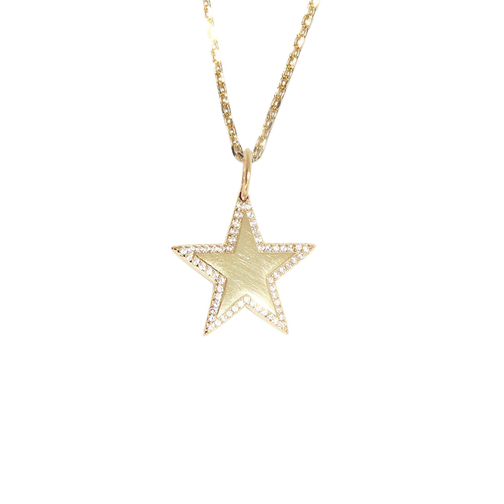 Diamond Star Necklace Gold