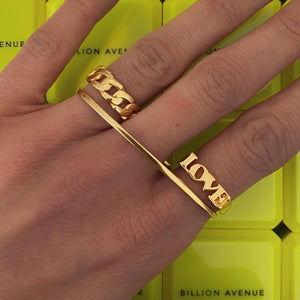 Triple Elegant Ring Gold