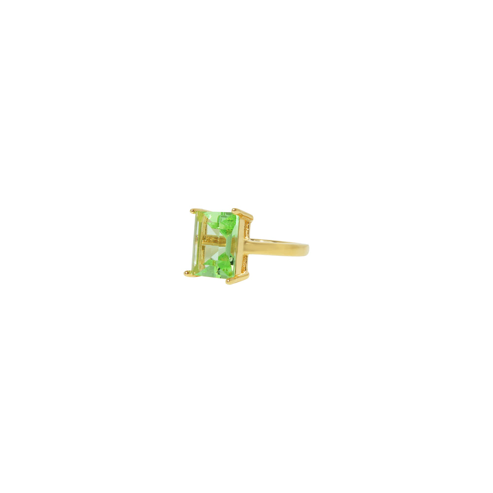Green Baguette Ring Size 5