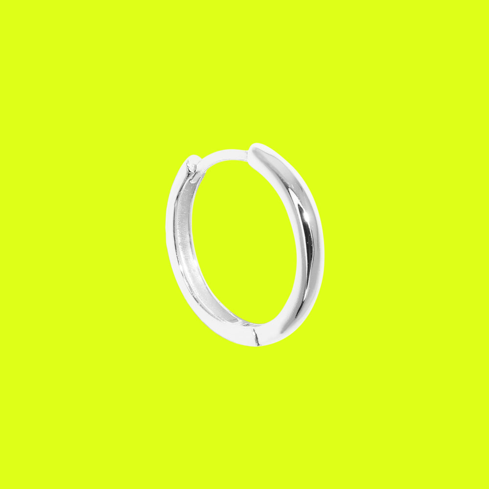 Thick Large Basic Hoop Silver