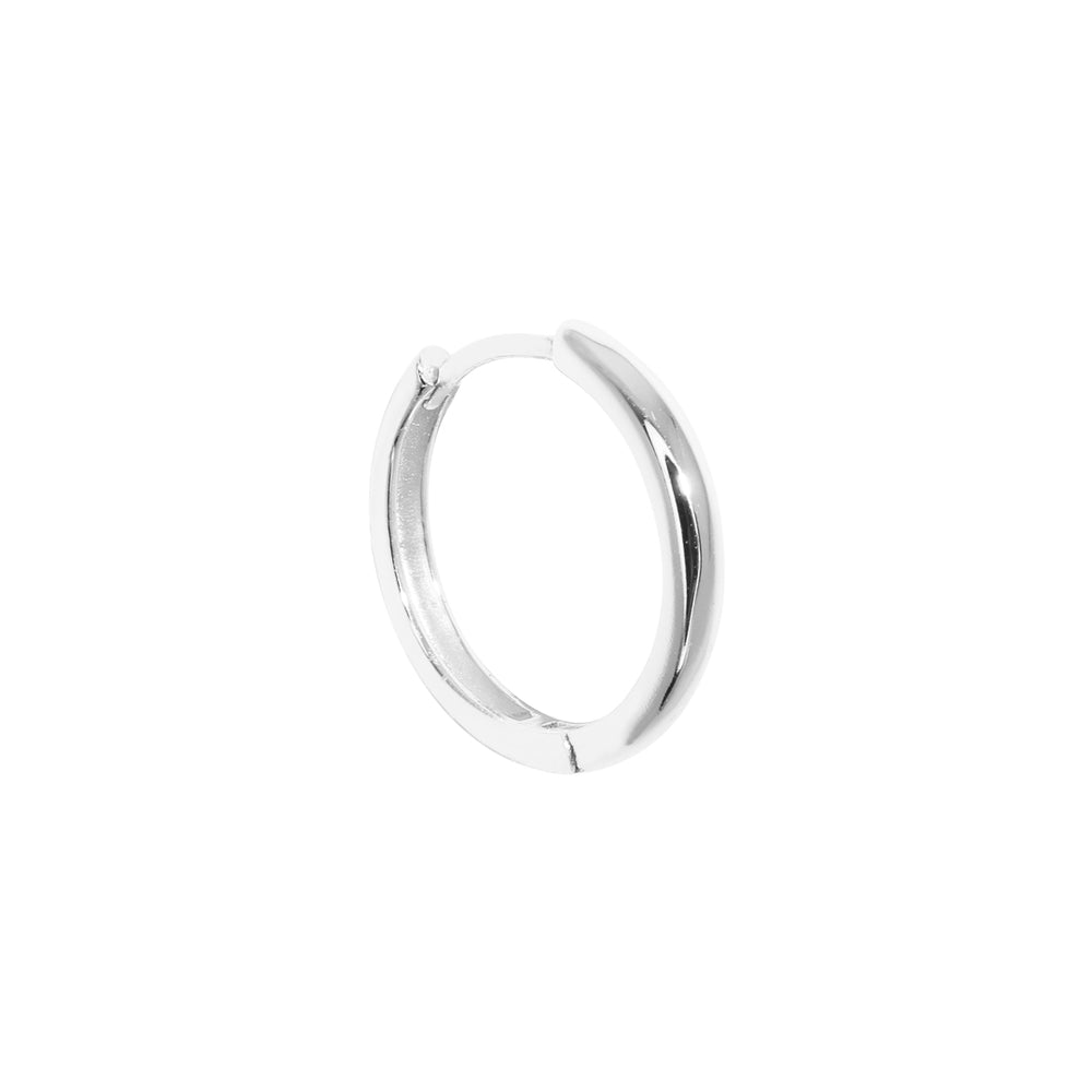 Load image into Gallery viewer, Thick Large Basic Earring Silver