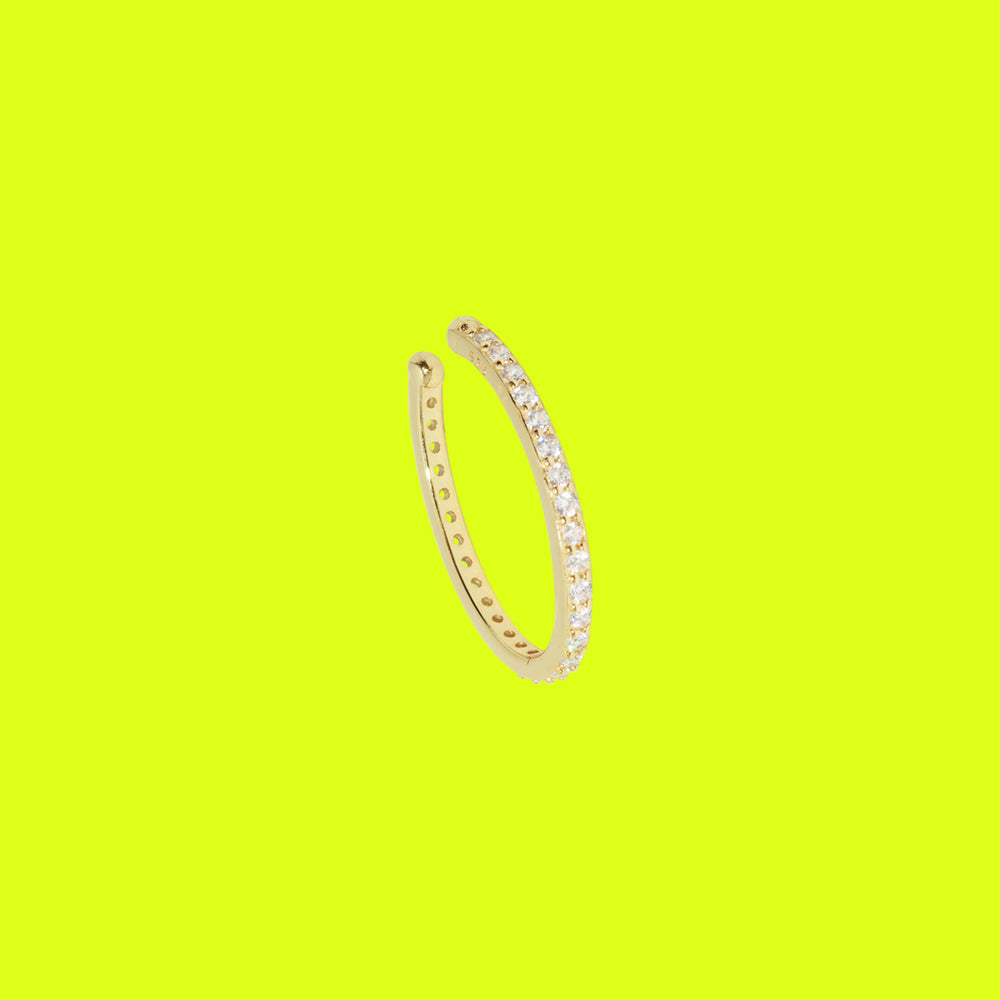 Load image into Gallery viewer, Oversized Diamond Ear Cuff Gold