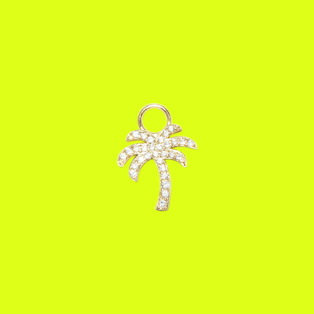 Palm Tree Charm Gold