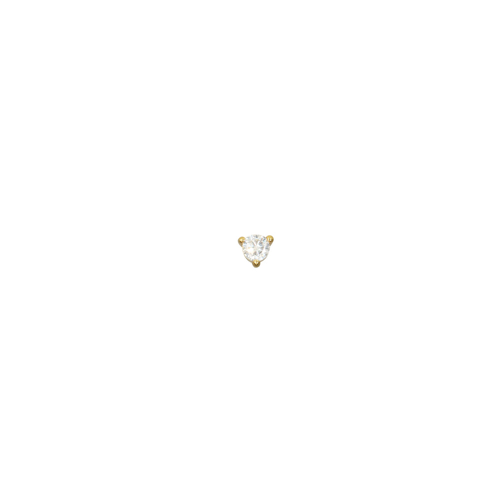 Small Solitaire Earstud Gold