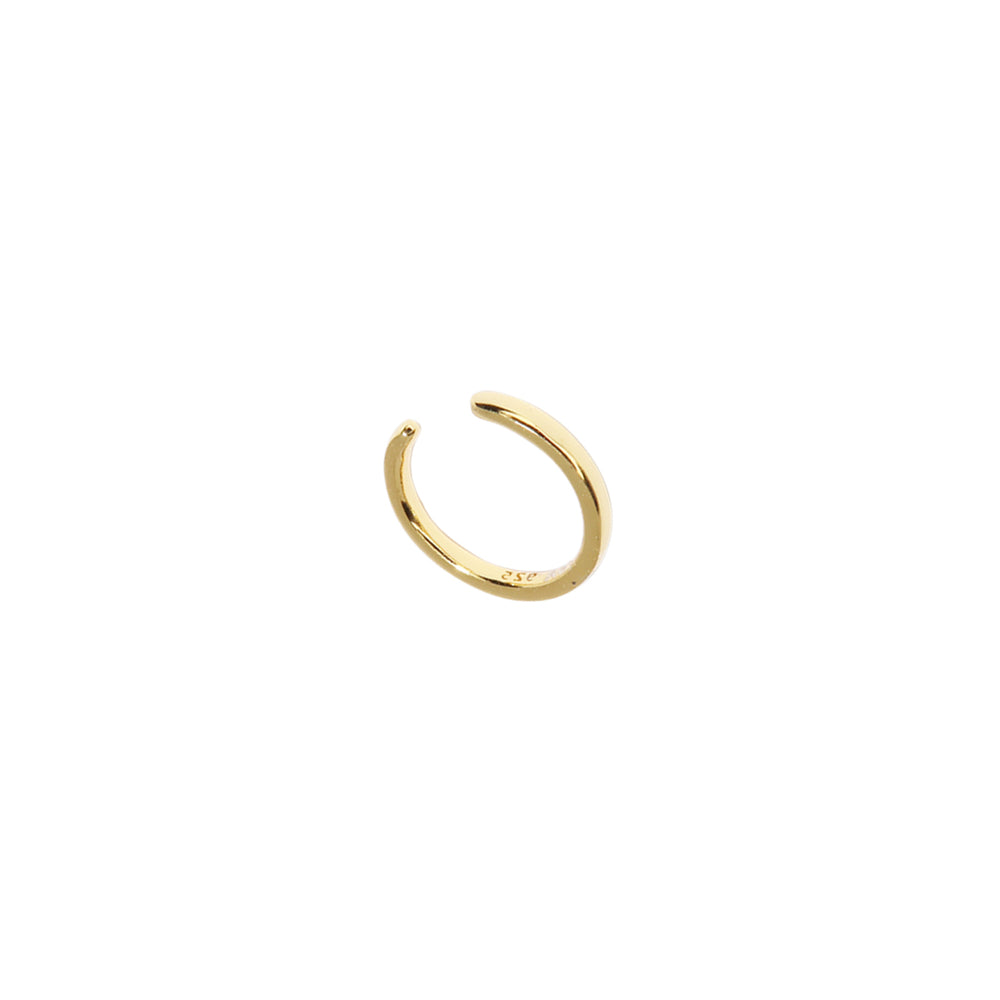 Thin Solid Ear Cuff Gold