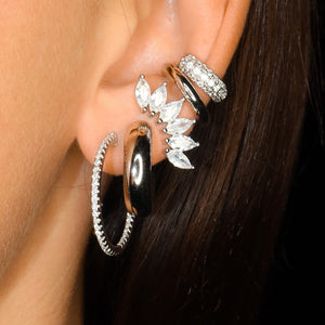Crown Earstud Silver