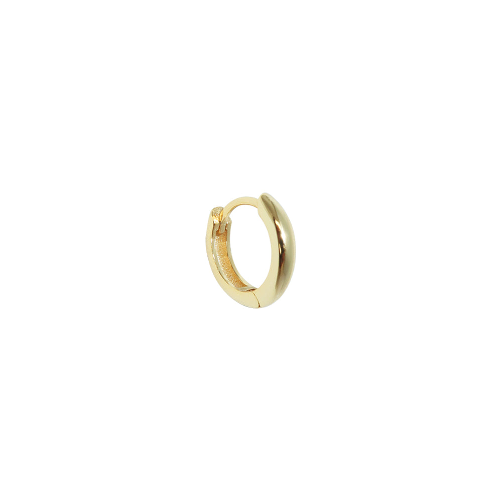 New Thick Small Basic Earring Gold