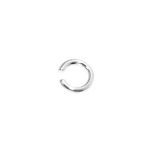 Thick Solid Ear Cuff Silver