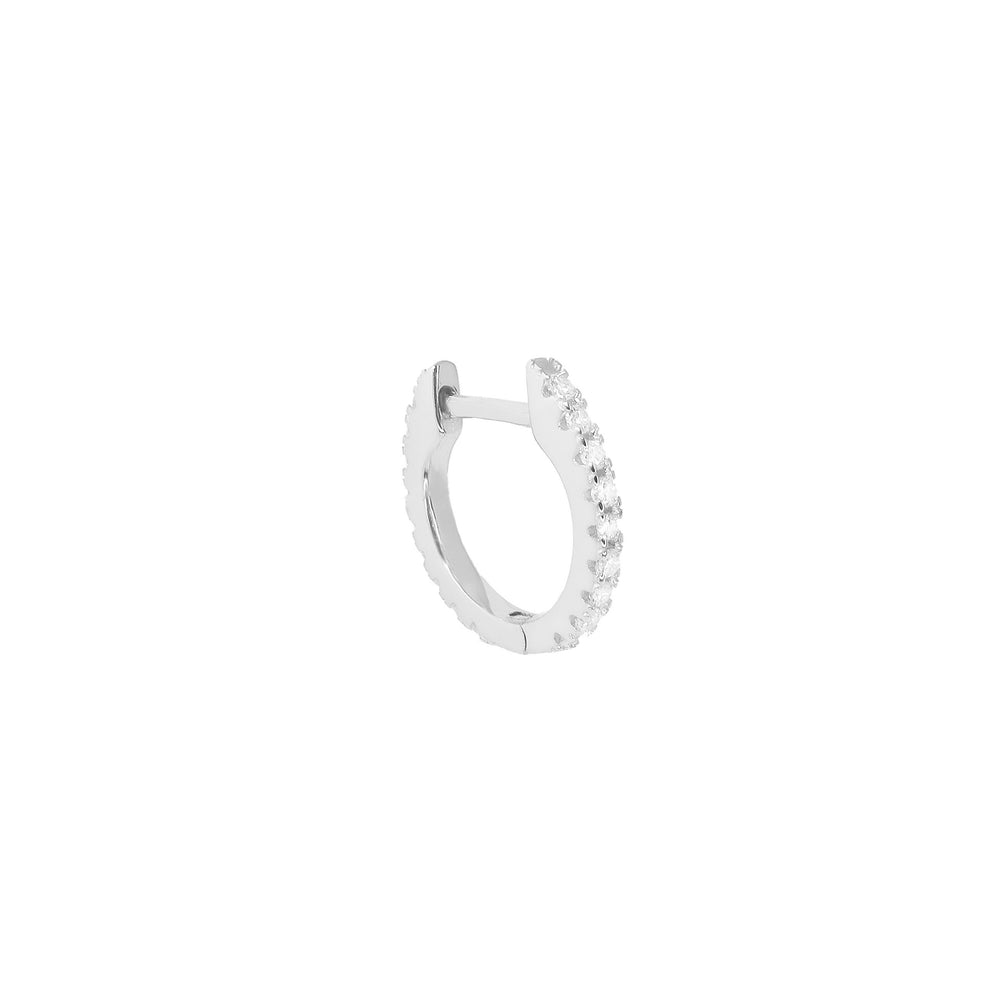 Diamond Hoop Silver