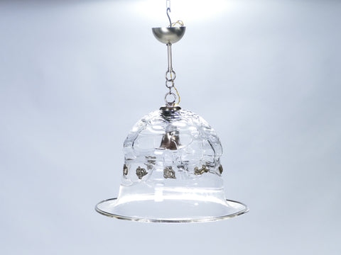 Unique suspension cloche verre Murano de Barovier & Toso 1950