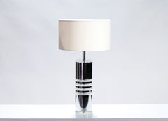 Grande lampe chrome et plexiglass 1970