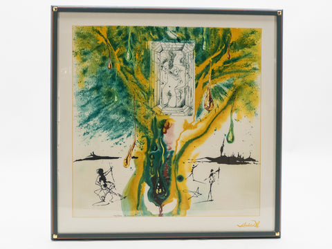 The Emerald Of The Tablet Salvador Dali Sérigraphie sur soie datée 1989
