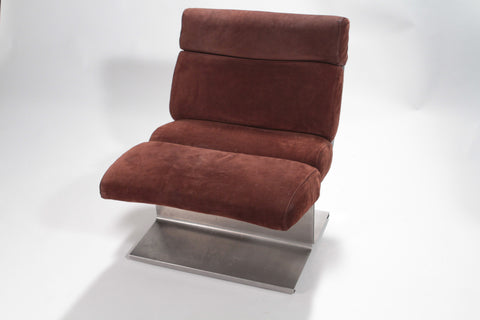 Fauteuil chauffeuse Paul Geoffroy années 70