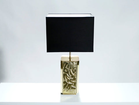 Grande lampe bronze signée Lova Creation 1970