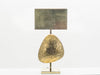 Grande lampe sculpture laiton bronze par Willy Daro 1970