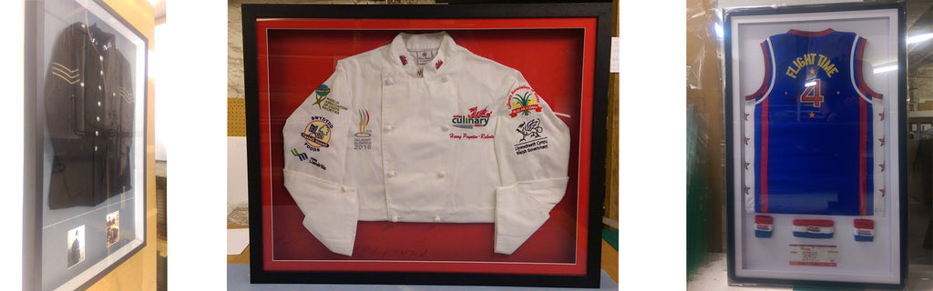 Smart Imaging & Framing, Finished Frames - Police Jacket, Chefs Jacket & Baseball Vest and Wristbands