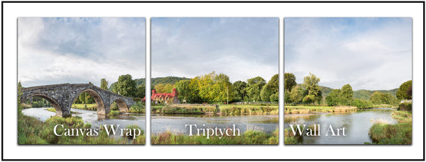 Canvas Wrap Triptych Wall Art Gallery - Images from the coast to the countryside of North Wales including Betws y Coed, Llandudno, Colwyn Bay, Conwy and other popular locations.