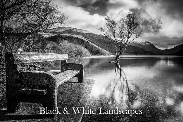 Black and White Landscapes Gallery - from the coast to the countryside of North Wales including locations such as Anglesey, Snowdonia, Conwy, Llandudno and many more.