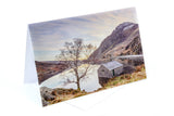 Greetings Card depicting 'Just after the sunrise' at Llyn Ogwen, Snowdonia - North Wales