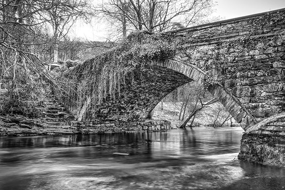 Ogwen Bank Bridge B&W